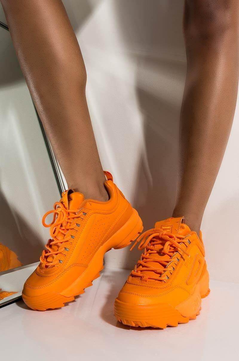 In Womens Disruptor Ii Premium Sneaker Fila Chunky Neon CxtQBshrd