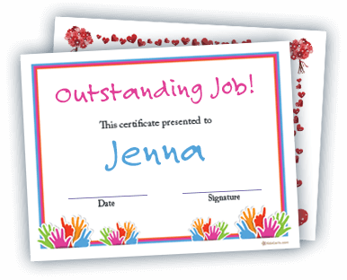 Award Certificates And Bingo Cards For Students And Children