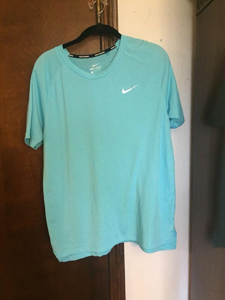 Nike Men S Dri Fit Running Light Blue T Shirt Size L 5 Fashion Clothing Shoes Accessories Mensclothing Activewear Ebay Link T Shirt Top Shirts Dri Fit