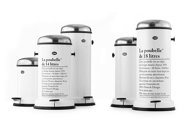 Poubelle Vipp poubelle vipp pour merci via nat et nature | objets déco | pinterest