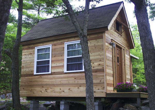 How To Build A Cedar Bunkhouse From The Ground Up Bunk House Cedar Shake Roof Brick Molding