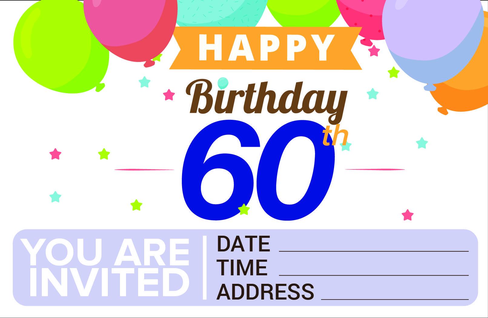 download free printable 60th birthday invitation template free
