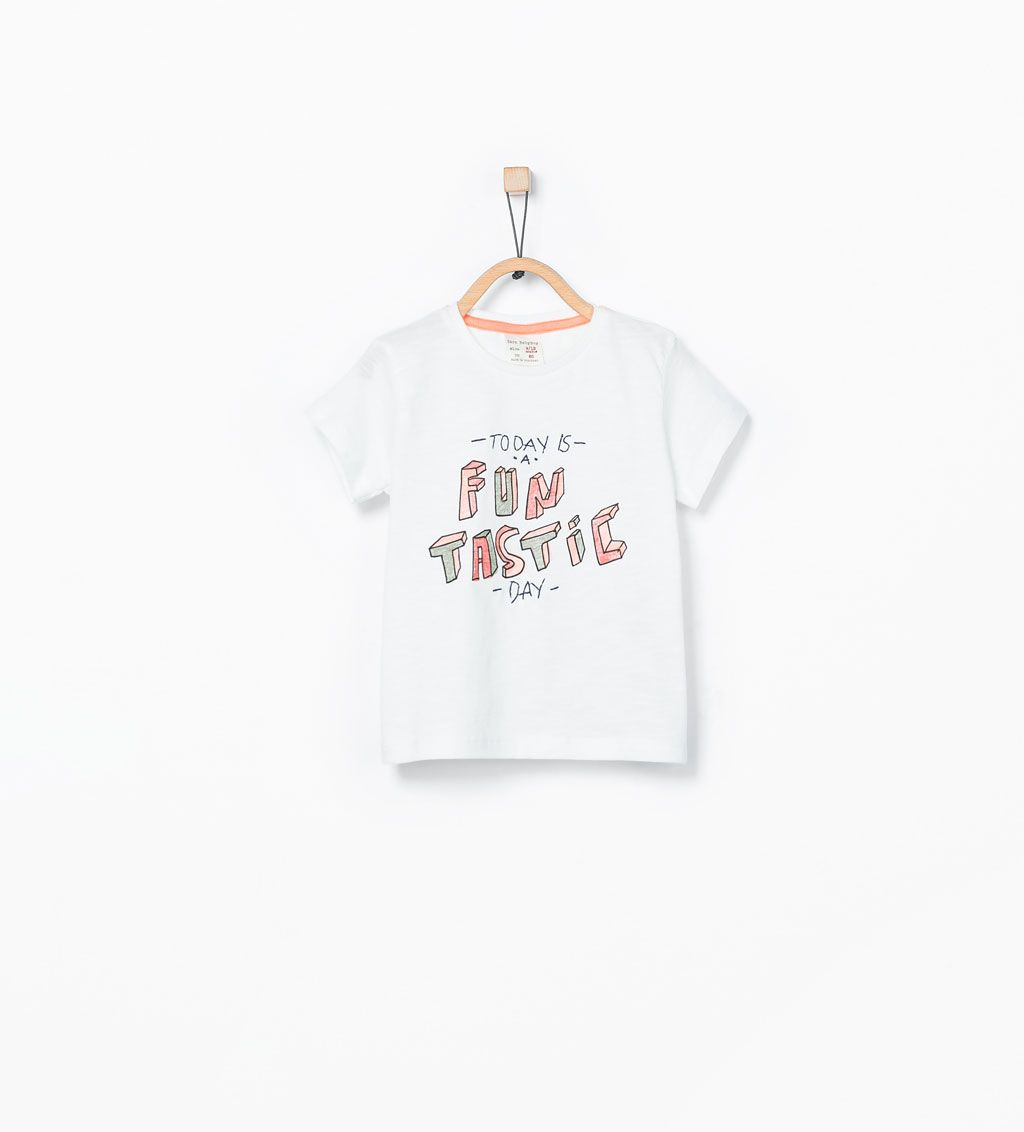ab3d6eb34be Εικόνα 1 του Μπλούζα με στάμπα fun από Zara | for baby boys | Zara ...