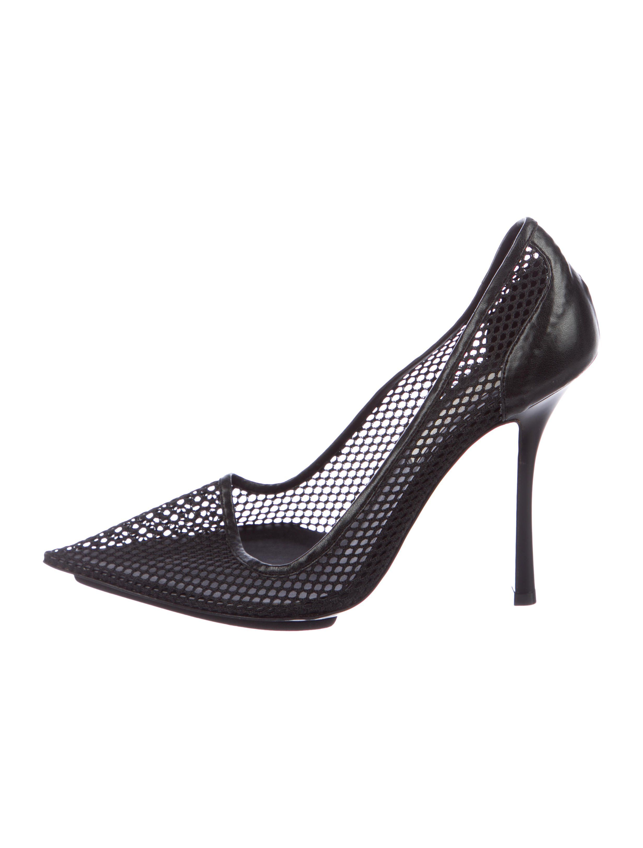 ac4c570eec Stella McCartney Mesh Pointed-Toe Pumps - Shoes - STL72825 | The ...