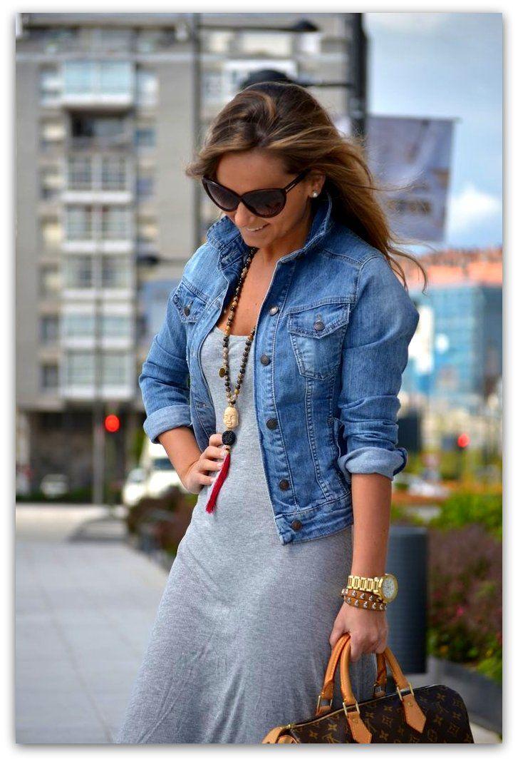 Grey maxi dress, Casual dress outfits