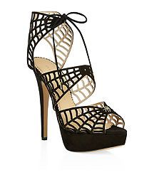 View the Caught In Charlotte's Web Suede Sandals