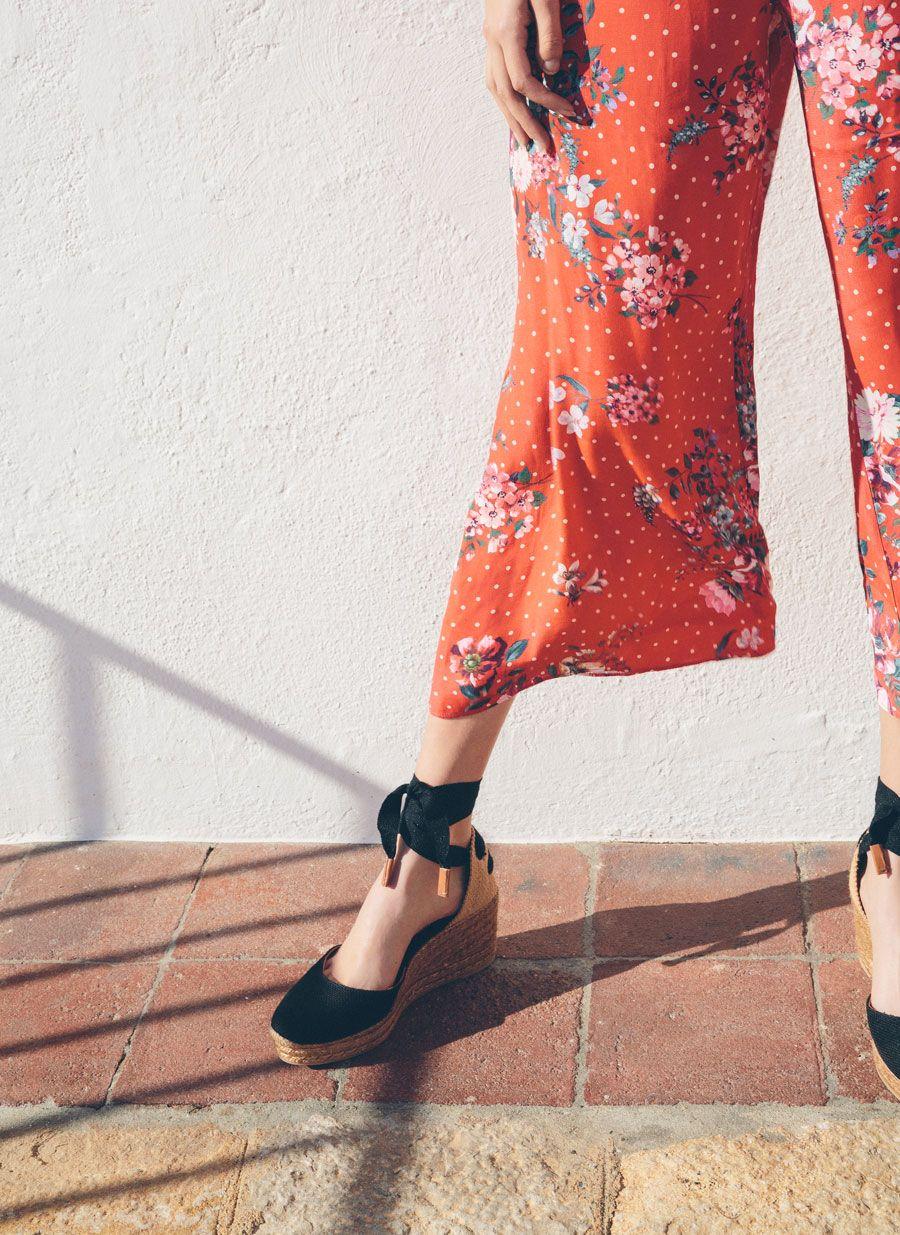 Czarne Lniane Buty Na Koturnie Spring Is Calling Obuwie Uterque Poland Fashion Womens Oxfords Shoes