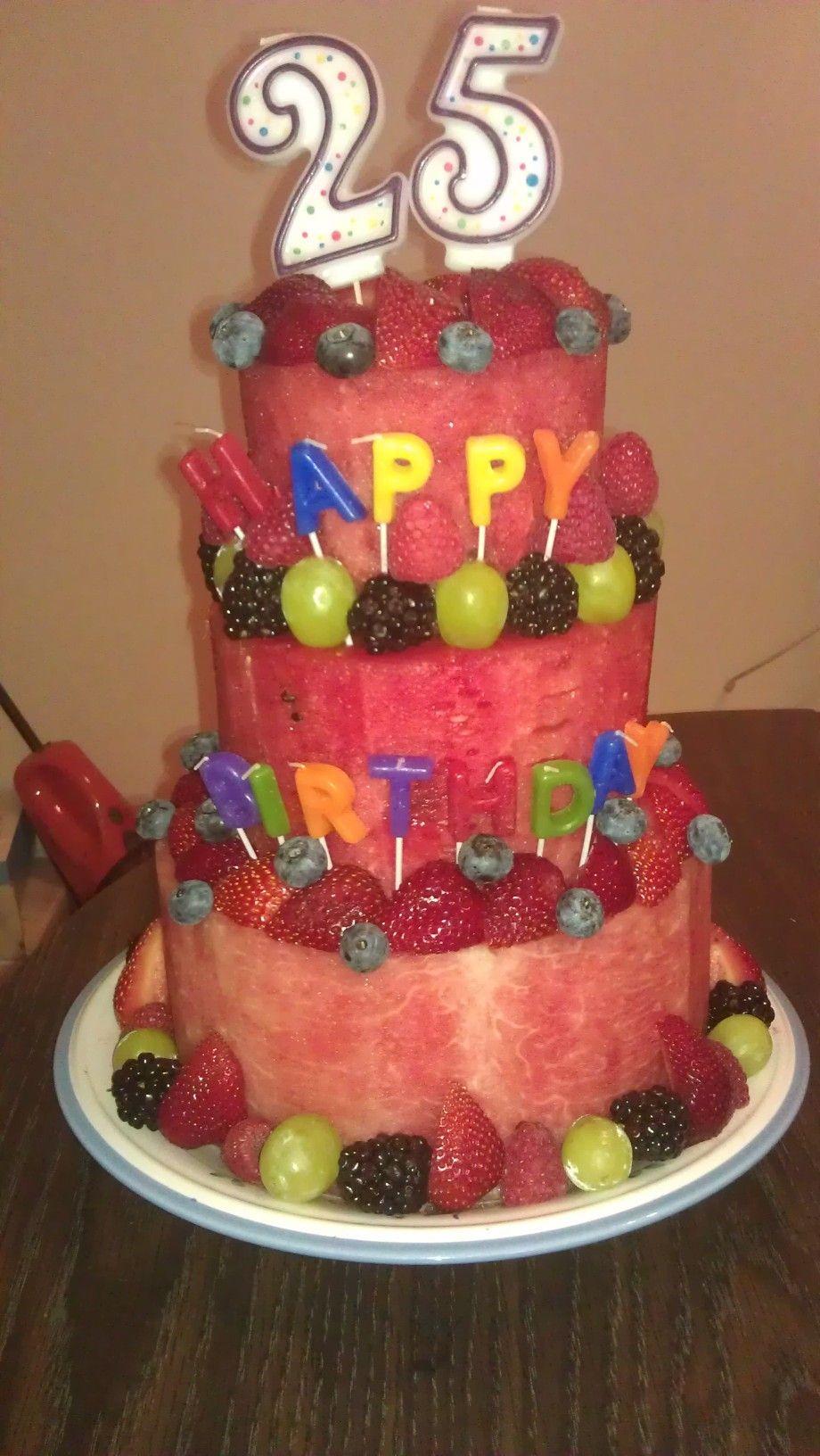 birthday cake made of fruit! Healthy birthday cakes