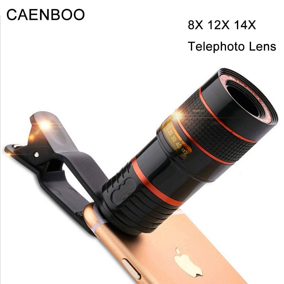 Caenboo 12x zoom telephoto lens for samsung galaxy s9 plus