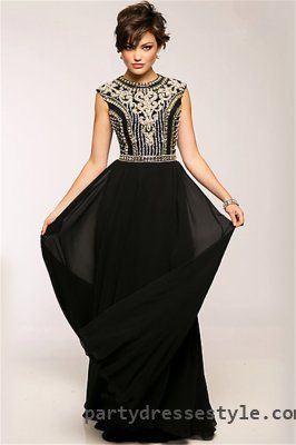 Jovani 24413 Beaded High Neck Open Back Formal Long Prom Dresses ...