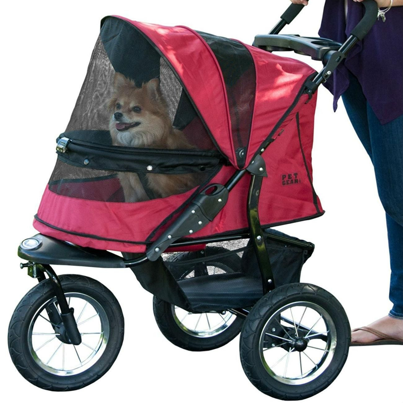 Oxford Pet Stroller Ebay Jogger No Zip Pet Stroller Rugged Red Products In 2019