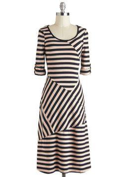All Stripes on You Dress, #ModCloth