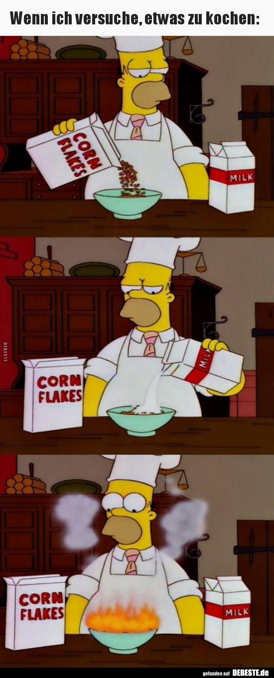 wenn ich versuche etwas zu kochen  lustige bilder