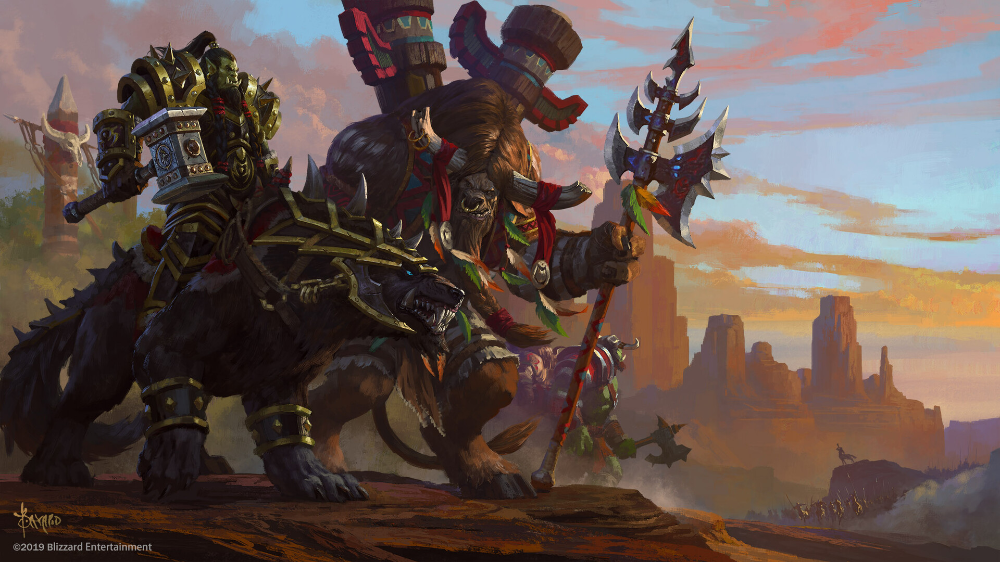 Artstation Cairne And Thrall Bayard Wu With Images Warcraft Art