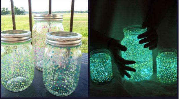 Diy Fairy Jars Any Glass Jar Glow In The Dark Paint Use Chop
