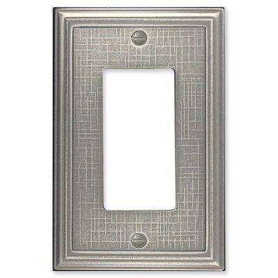 Questech Linen Textured 1 Gang Rocker Wall Plate Switch Plate Covers Plates On Wall Metal Casting