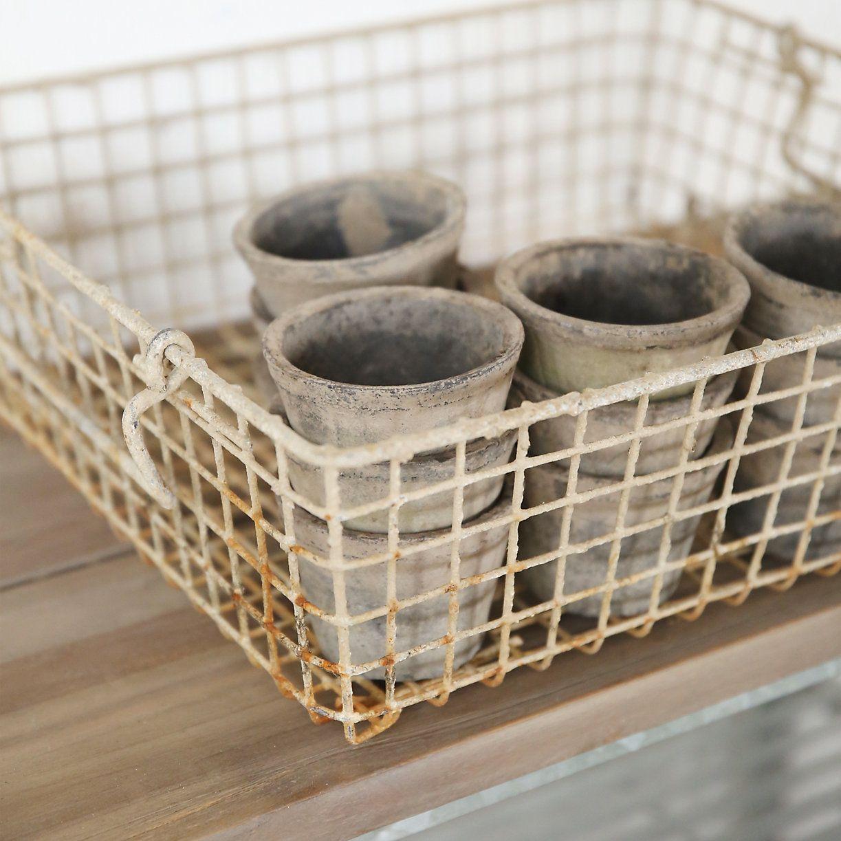 Antique Zinc Oyster Basket
