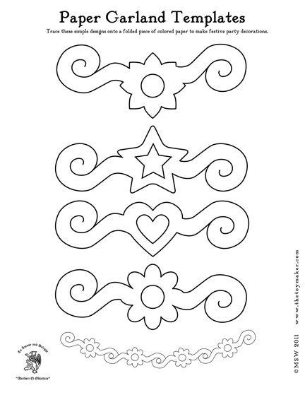 Free printable paper flower garland patterns paper crafts free printable paper flower garland patterns mightylinksfo