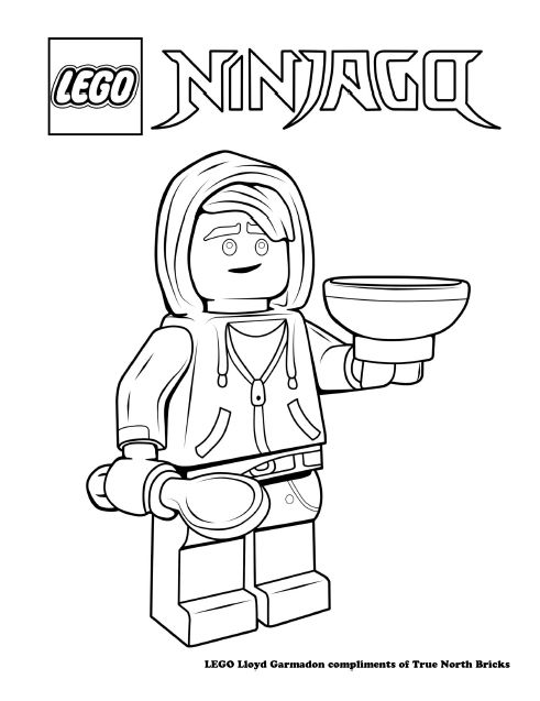 Coloring Page Lloyd True North Bricks Coloring Pages Ninjago Coloring Pages Lego Coloring Pages