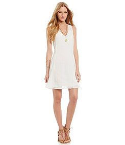 Skies Are Blue Lace Strap Gauze Dress