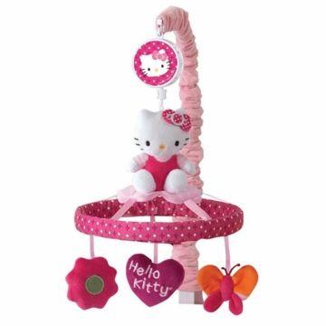 Lambs & Ivy Hello Kitty Garden Musical Mobile | MY BABY GIRL