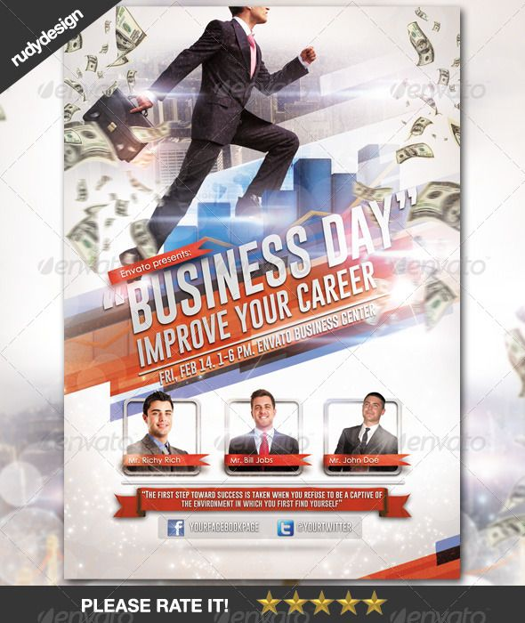 Business Career Day Template Design Psd Flyer Templates
