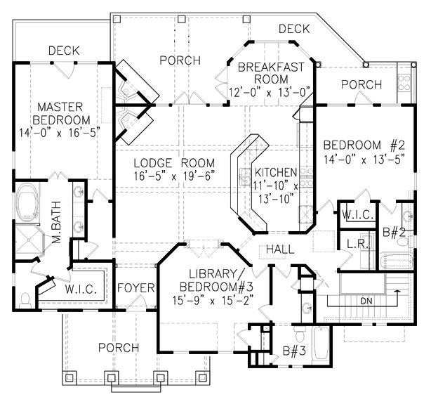 House Plan 699-00059 - Ranch Plan 1,997 Square Feet, 3 Bedrooms, 3