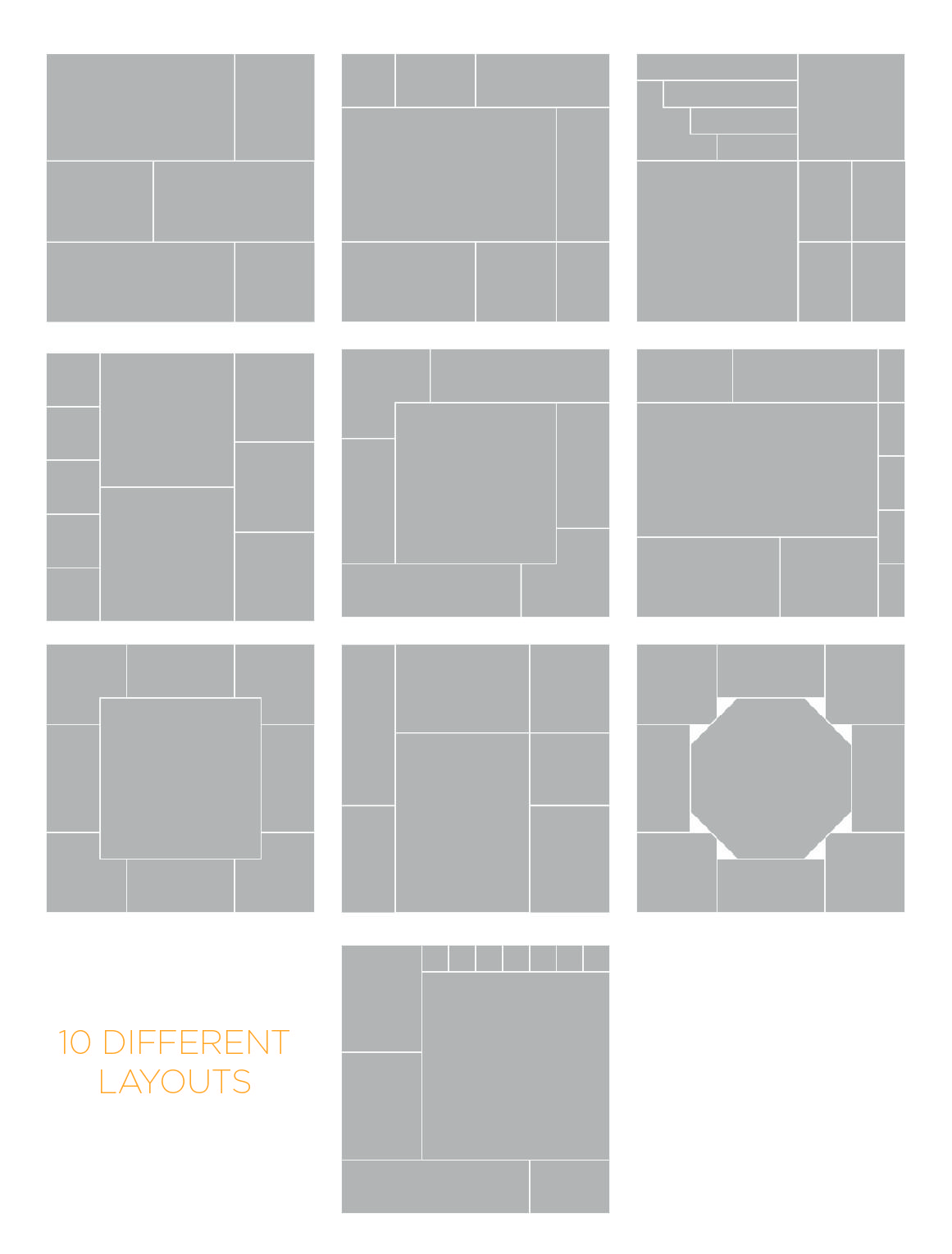 10 Mood Board Photo Collage Layouts By Modern Design Elements On
