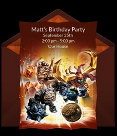 Online Invitations From Skylanders PartyParty InvitationsBirthday