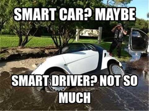 37545731b4ff8429dfa5a2e47d5653a1 how did this happen?! hilarious funny meme humor smart car