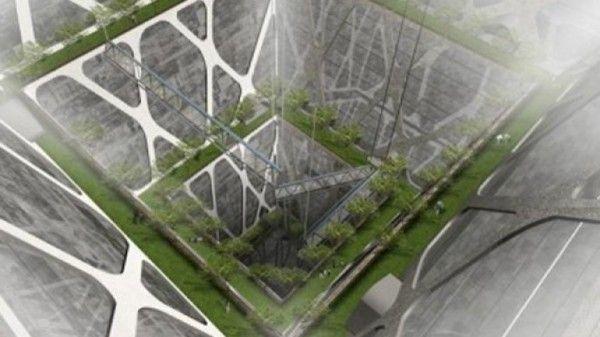 Un rascasuelos sería lo contrario a lo que conocemos como rascacielos, es decir, un gran edificio construido bajo tierra.