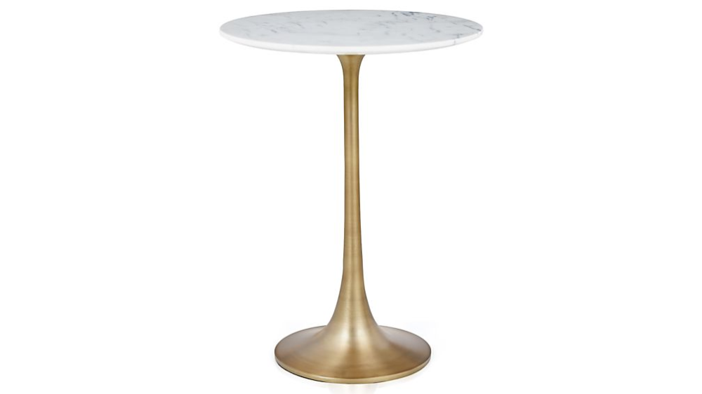 Nero White Marble Accent Table White Accent Table Black Accent