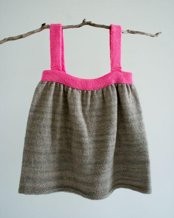 Baby Dress Jumper Free Knitting Pattern, gray and pink | Stuff to ...