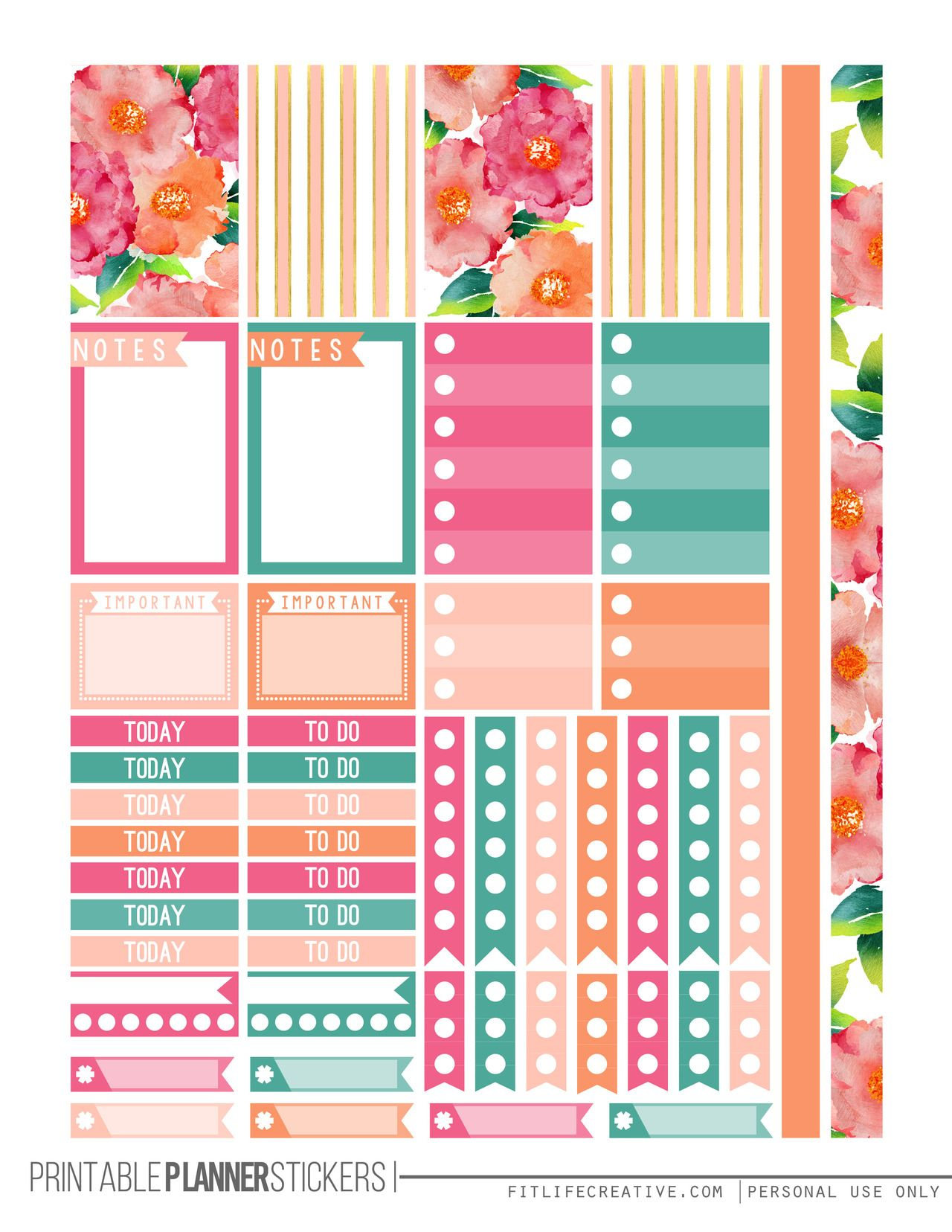 Current image for happy planner free printable stickers