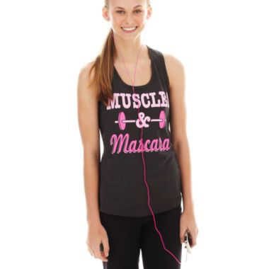 5b298f443c177 Chin-Up Graphic Tank Top with Headphones found at  JCPenney