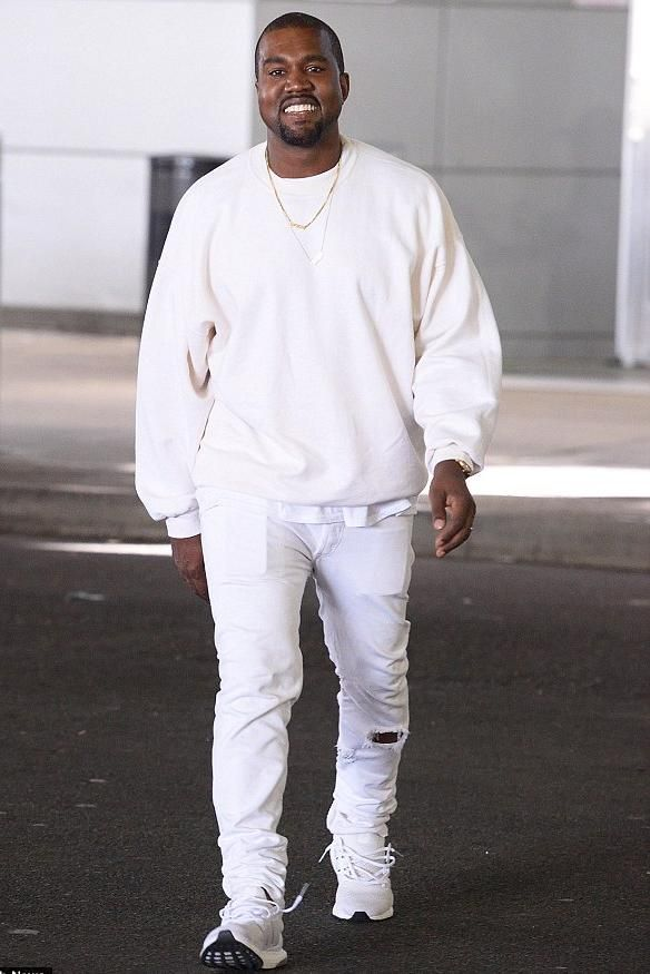 Kanye West wearing Adidas Ultra Boost Sneakers