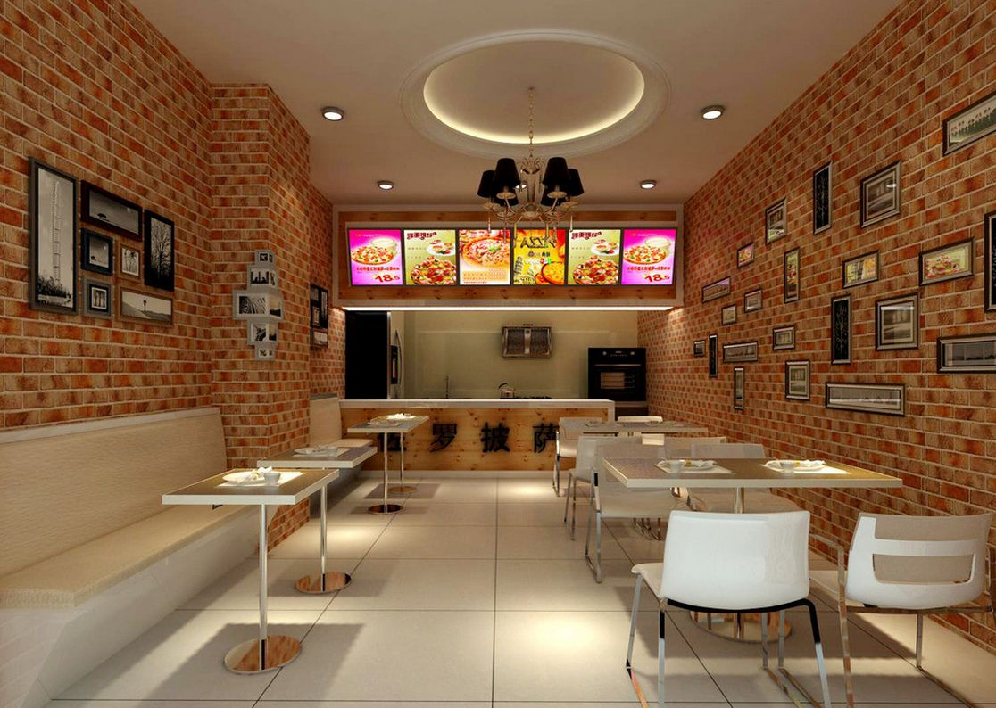 Pizza Shop Interior Designs | Store Decorations in 2019 ...