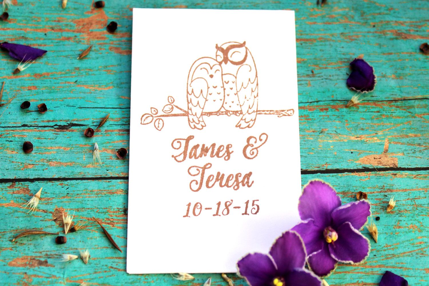 Love Birds, Personalized Wedding Seed Packet Favors, Love Owls by ...
