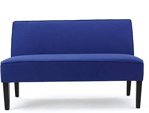 Magnificent New Gdf Studio 299847 Chandler Royal Blue Fabric Love Seat Machost Co Dining Chair Design Ideas Machostcouk