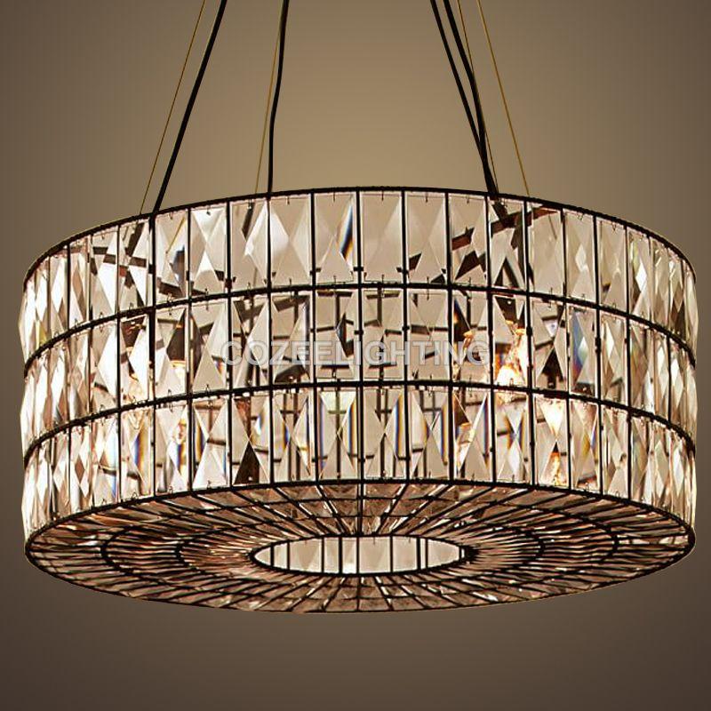 Luxury vintage cristal chandelier indoor lighting crystal hanging light for home hotel restaurant living and dining