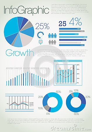 Modern Blue Infographic