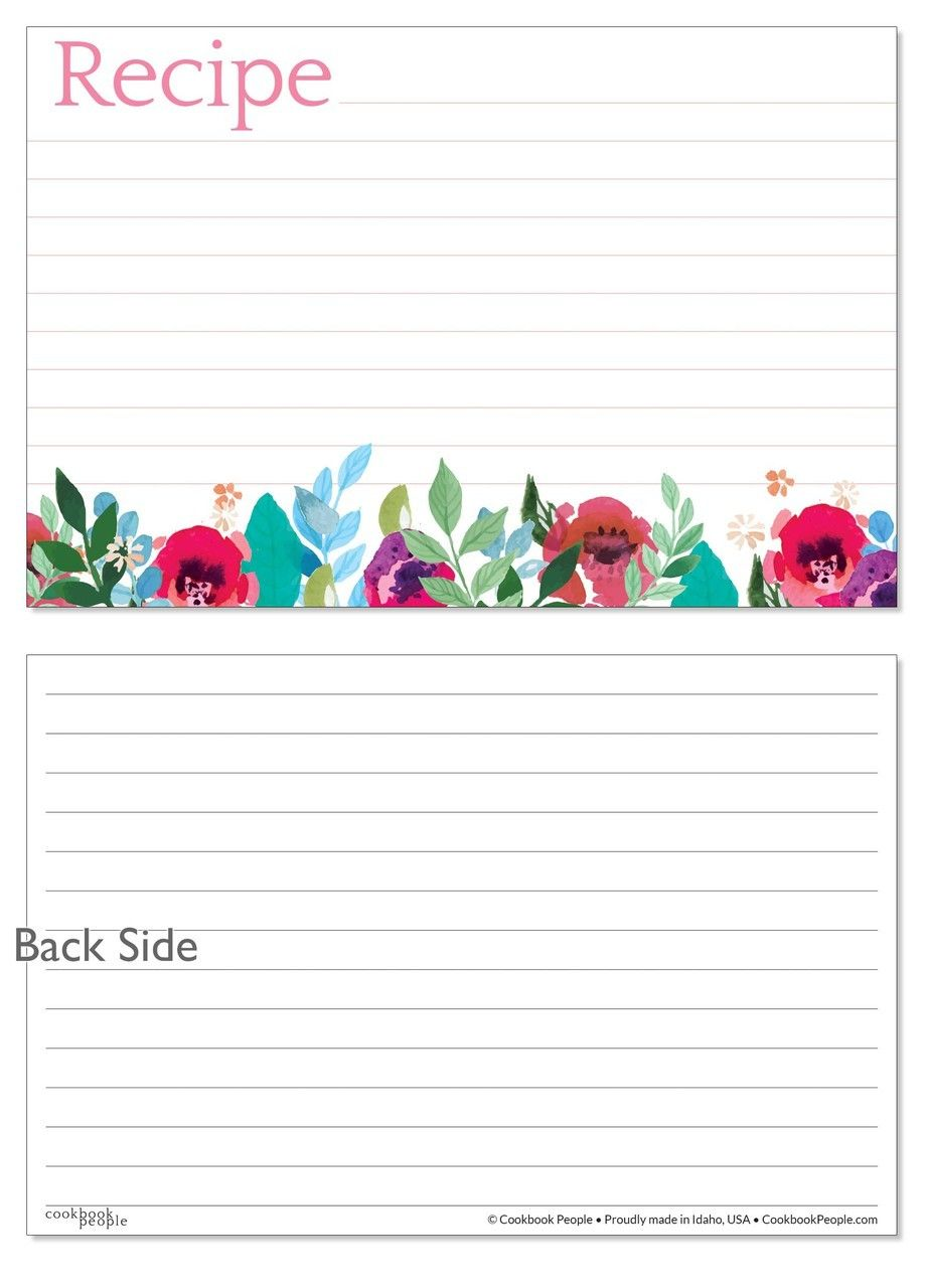 4x6 Recipe Card Underbrushstrokes Pink And Blue 40ea Recipe Cards Recipe Cards Printable Free Recipe Cards Template Free 4x6 recipe card template