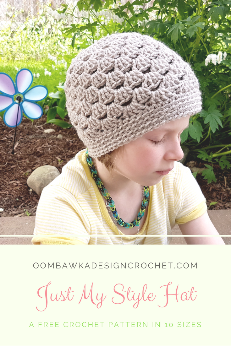 Just My Style Hat - A Free Crochet Pattern