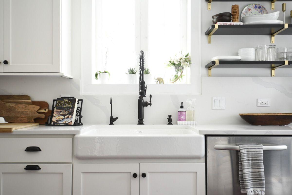 Dream Kitchen Tour White Kitchen Inspiration Kitchen Shelves Styling Dream Kitchen