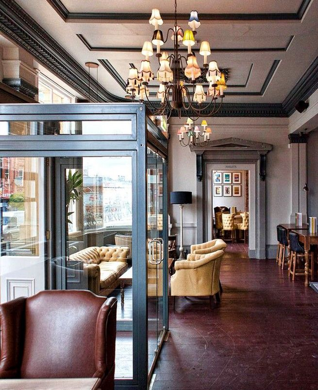 Contemporary gastro-pub decor by DV8 Designs Amazing Gastronomic ...