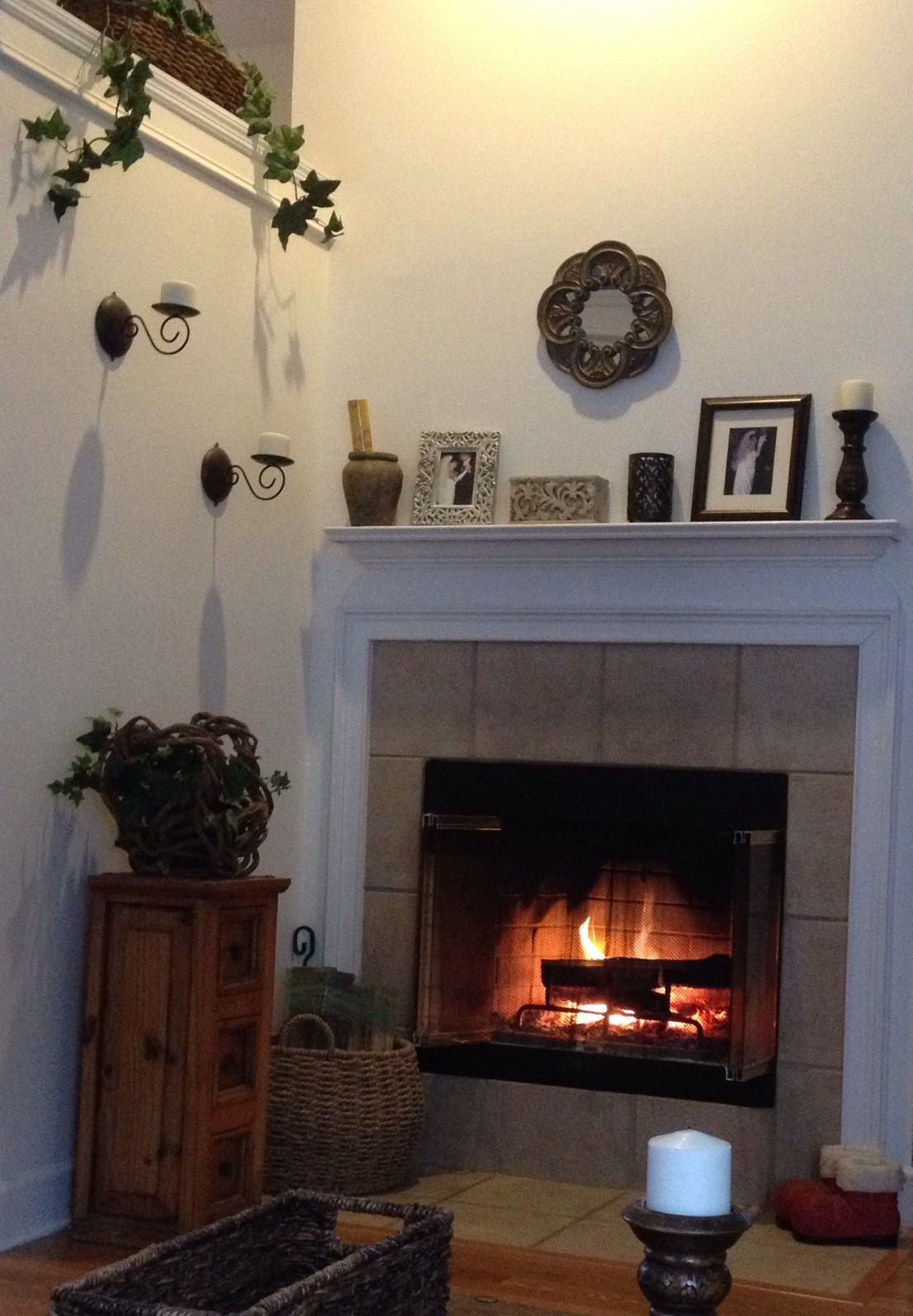 House decor This is my fireplace I
