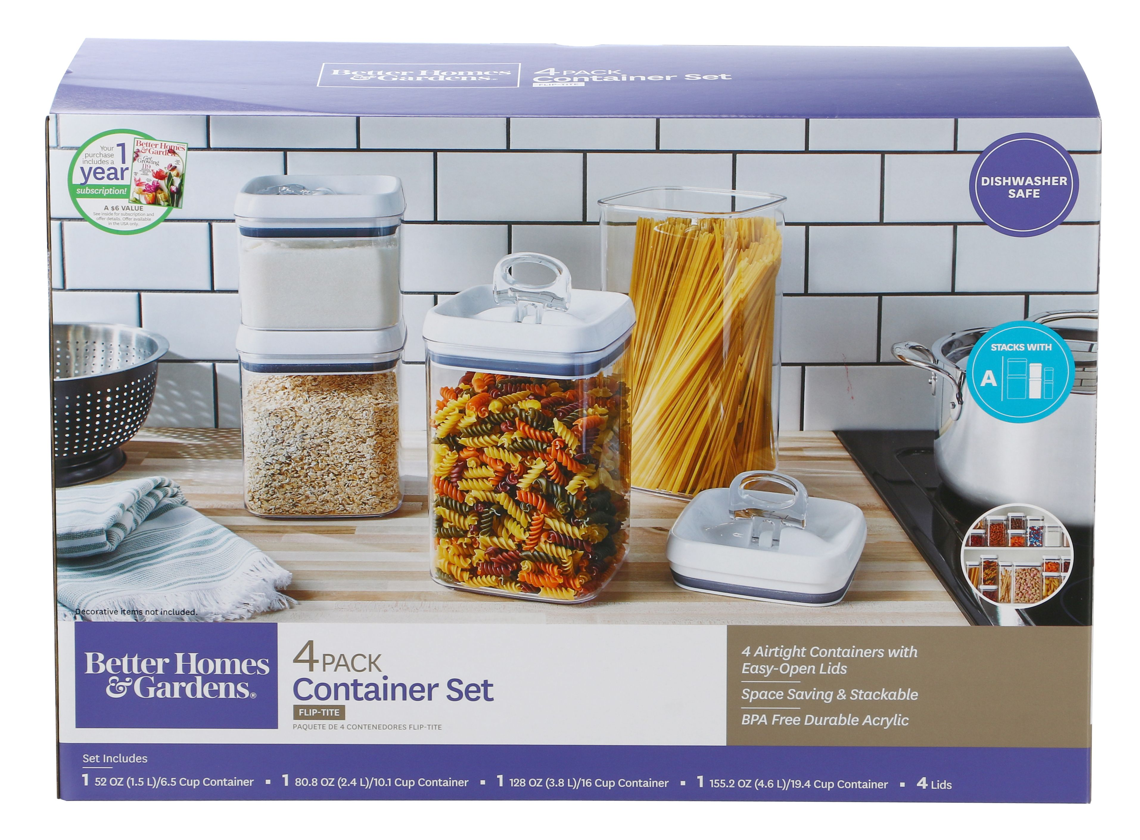 Better Homes And Gardens Flip Tite 4 Piece Storage Set