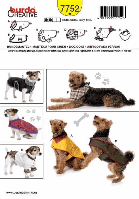 Patron de manteau pour chien - Burda 7752