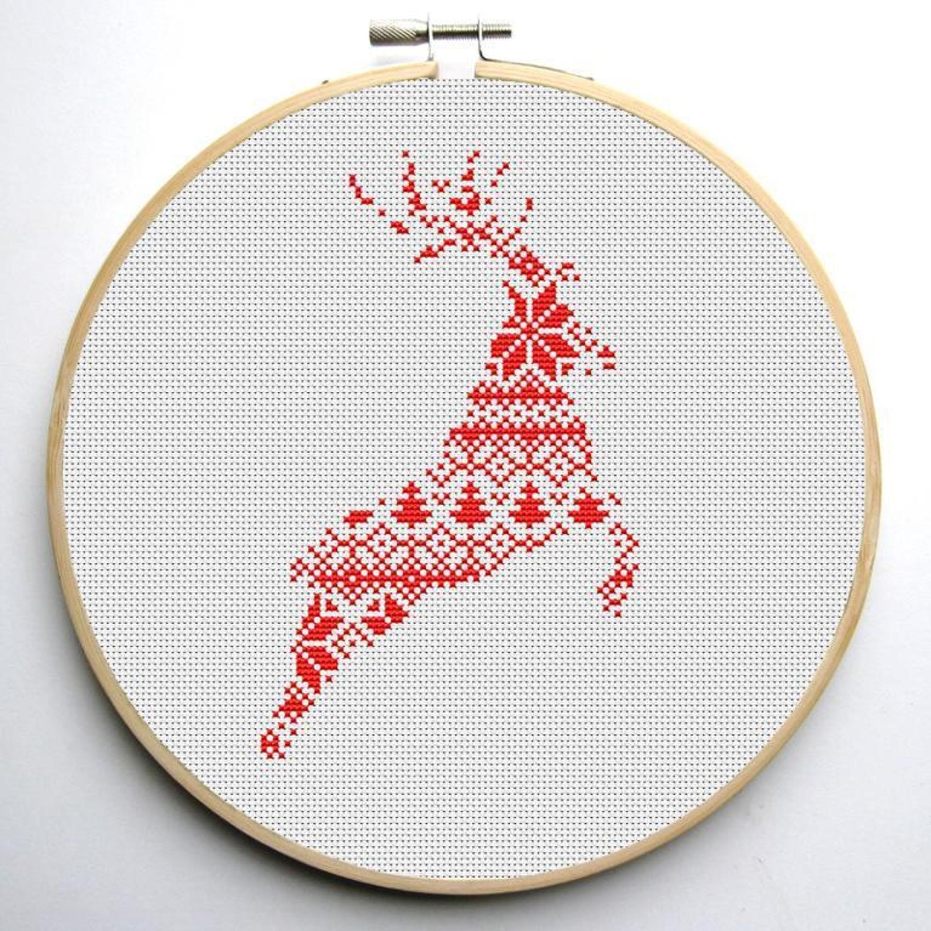 Nordic Reindeer Cross Stitch Pattern Craftsy Cross Stitch Patterns Christmas Cross Stitch Designs Cross Stitch Christmas Stockings