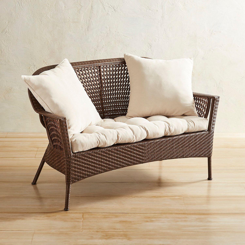 Trinidad Honey Brown Standard Settee | Love seat, Outdoor ...